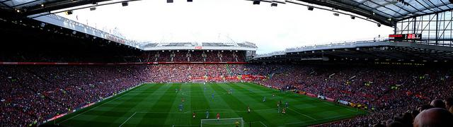 Photo of Manchester United's football pitch.